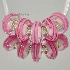 5pcs MURANO Lampwork charm Beads fit 925 silver European Bracelet Chain a434