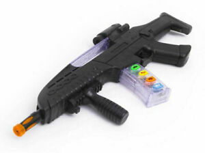 Kids Army Commando Police AK-518 Plastic Gun Pistol Toy With Light And Sound NEW