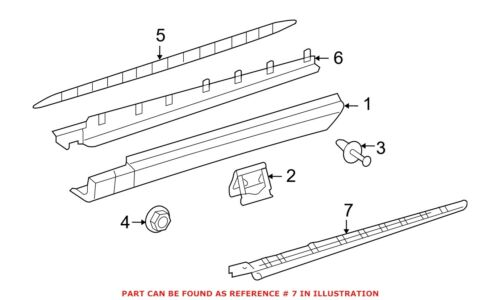 For Mercedes Genuine Running Board Step Pad Right 1646981030