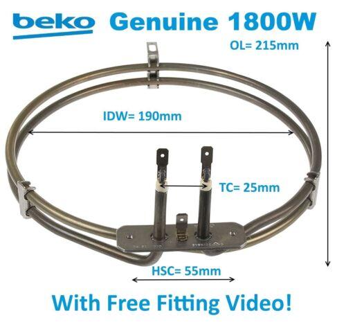 Beko ODF24300M ODM22100X OIE21100B OIE25500X da forno elemento ventola forno 1800W