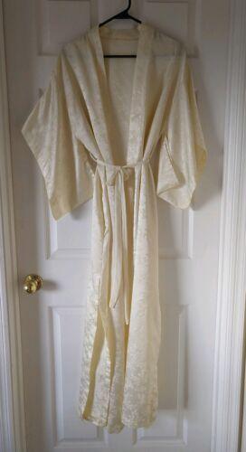 Vintage Georgette Trabolsi Ivory Robe with Kimono