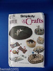 1994-Simplicity-Crafts-Pattern-9065-Dog-Cat-Beds-Place-Mats-New-Uncut-NOS