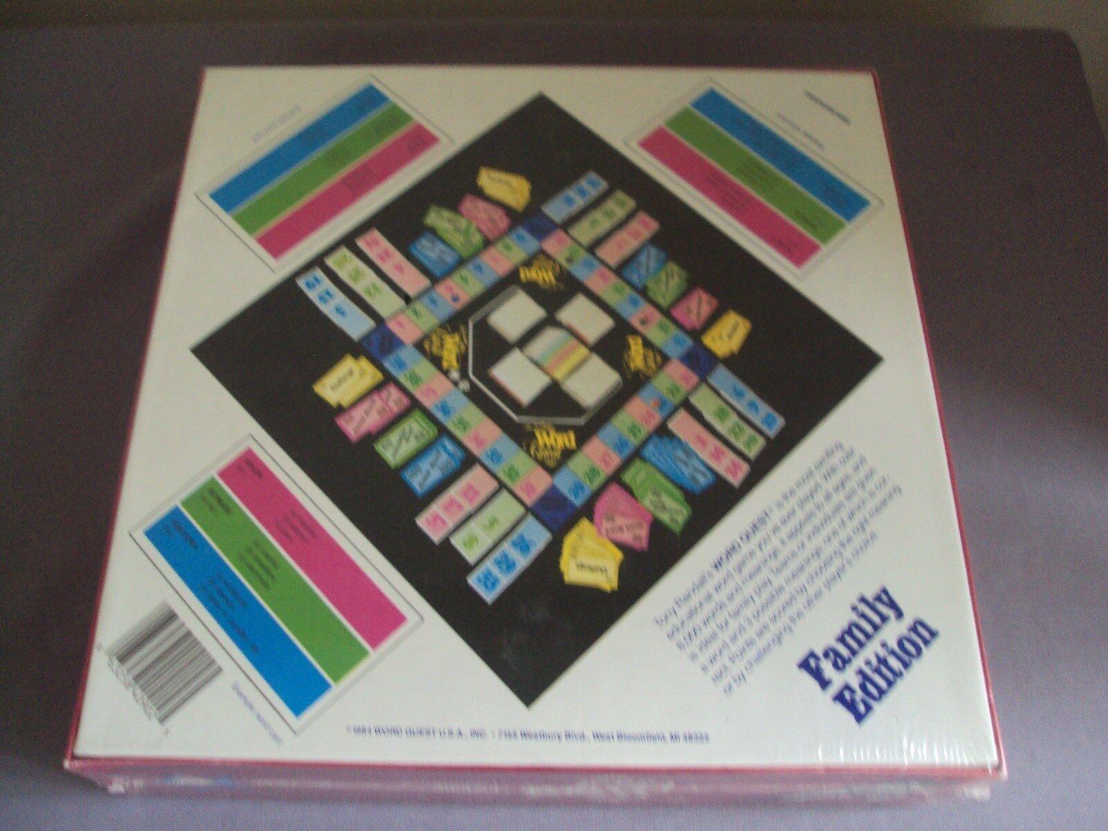 NIB Word Quest Board Game Tony Randall 1984 Sealed