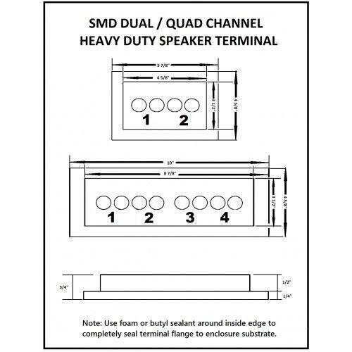 Steve Meade SMD Quad Box Terminals Heavy Duty Grabe 8 Hardware PVC Black