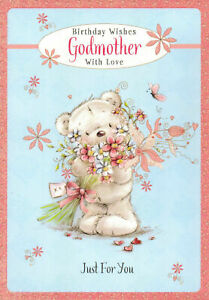 Image Is Loading Traditional Cute Godmother Happy Birthday Card God Mother