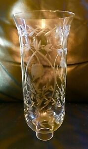 Baldwin-Chandelier-Sconce-Etched-Grapevine-Chimney-Glass-Shade-10-3-8-x-1-5-8