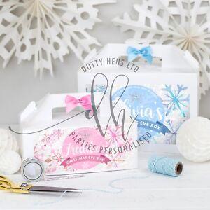 Personalizzata-vigilia-di-Natale-Scatola-snowfrost-BIANCO-partito-Scatole-Regalo-Diamante