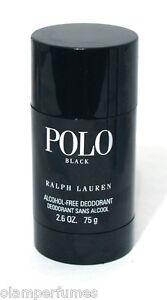 Ralph-Lauren-Polo-Black-Alcohol-Free-Deodorant-Stick-2-6oz-75g-Low-Shipping