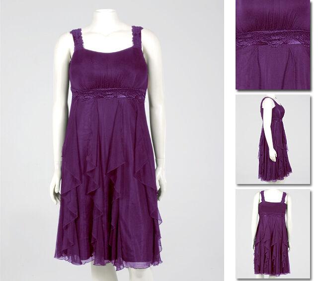 NEW Zaftique PARTY DRESS Dark EGGPLANT Purple (Last One ) 2Z   20   2X
