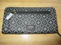 Fossil Clutch Wallet Handbag $55 Retail Tessa Black Multi