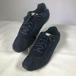 WOMENS-SZ-11-Coach-Shoes-Katelyn-Dark-Blue-Lace-Up-8-Eye-F0007-E11