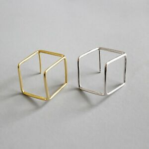Solid-925-Sterling-Silver-Geometry-Square-Hollow-Stud-Earrings-for-Women-Jewelry