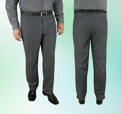 Konstruktiv Herren Sommer Hose Grau Klassisch Anzughose 48 50 52 54 56 60 62 64 70 Guter Geschmack