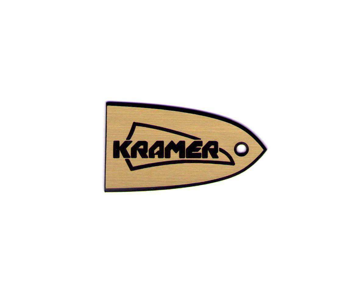 TRUSS ROD COVER name plate for KRAMER GUITAR Special Edition (Gold)