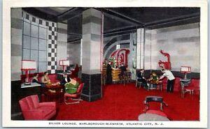 1938-Art-Deco-Atlantic-City-Silver-Lounge-Marlborough-Blenheim-Hotel-Postcard