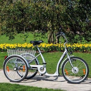 elektro dreirad seniorenrad 24 zoll fahrrad e bike elektrofahrrad 3 gang pedelec. Black Bedroom Furniture Sets. Home Design Ideas