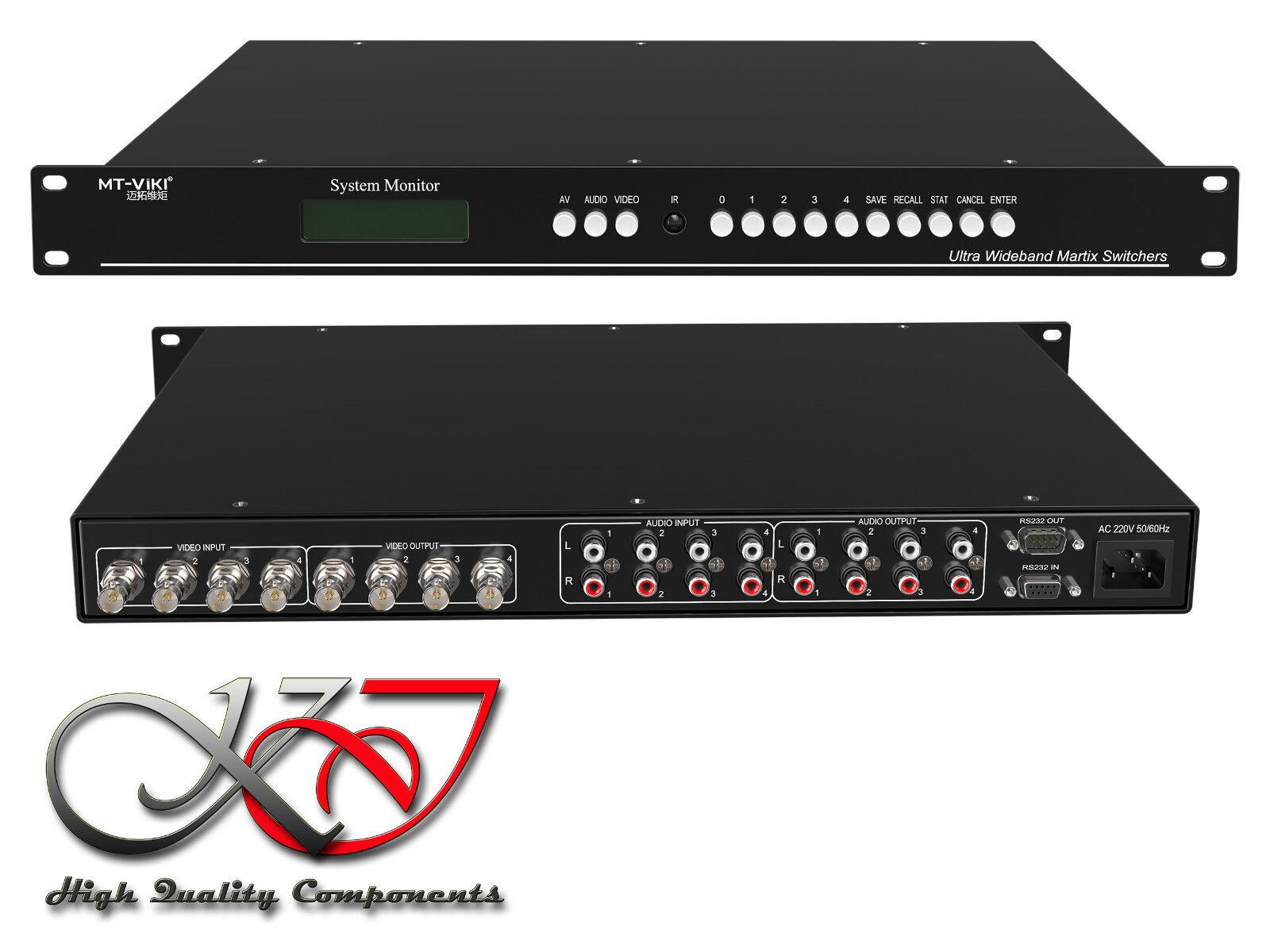 Matrix Schalter Splitter BNC - 4 auf 4 Ports
