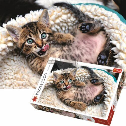 Trefl 1000 Piece Jigsaw Puzzle Cheerful Kitten