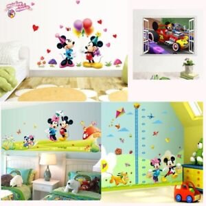 Details About Mickey Mouse Minnie Wall Sticker Decor Art Kids Decal Stickers Nursery Room Diy