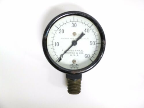 """NEW NOS 60 PSI  PRESSURE GAUGE 1//4/"""" NPT BY FAIRBANK MORSE /& CO MADE IN THE USA"""