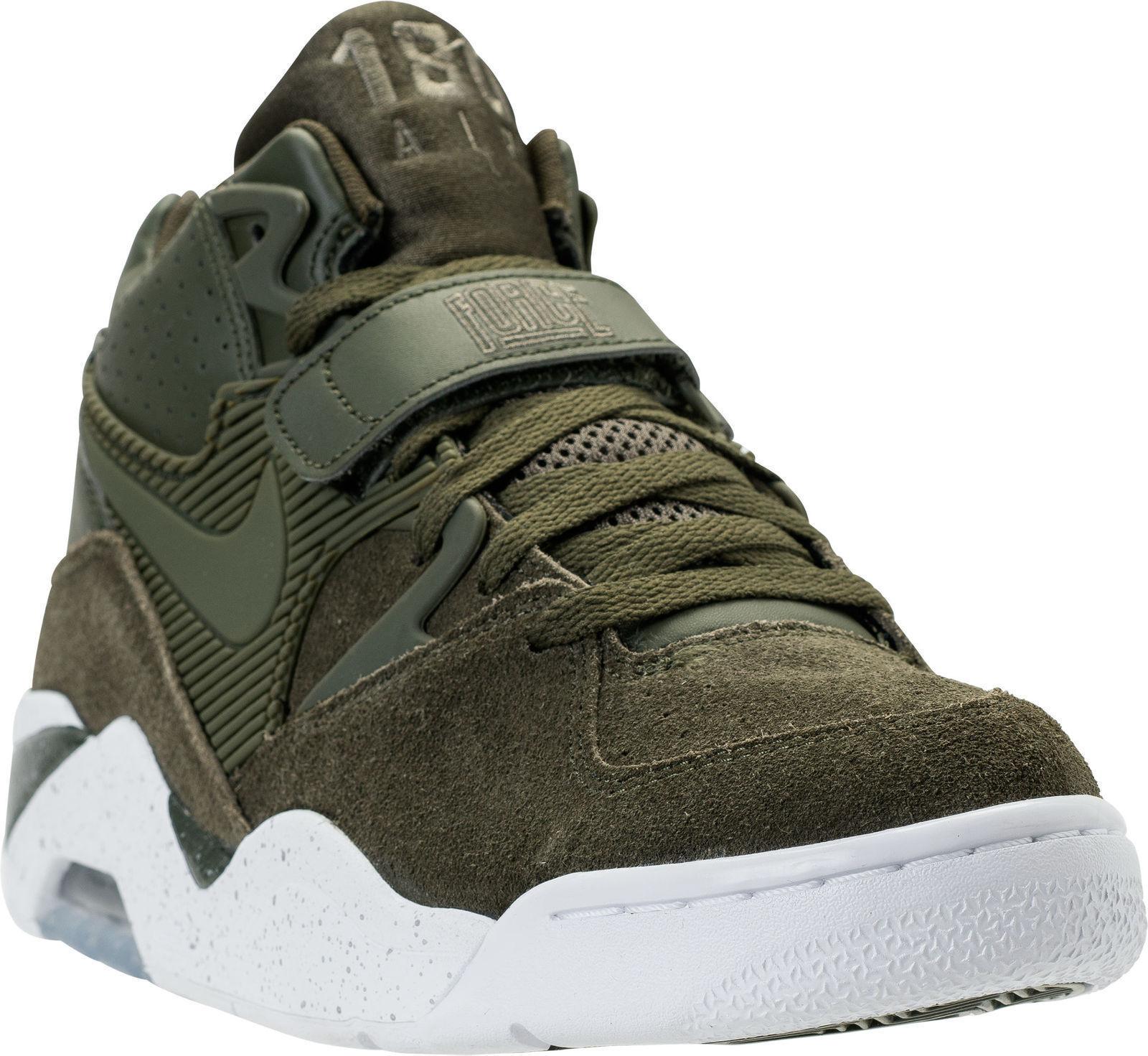 Nike Air Force 180 Men's Basketball shoes Sz 12.5 Cargo Khaki White 310095 300