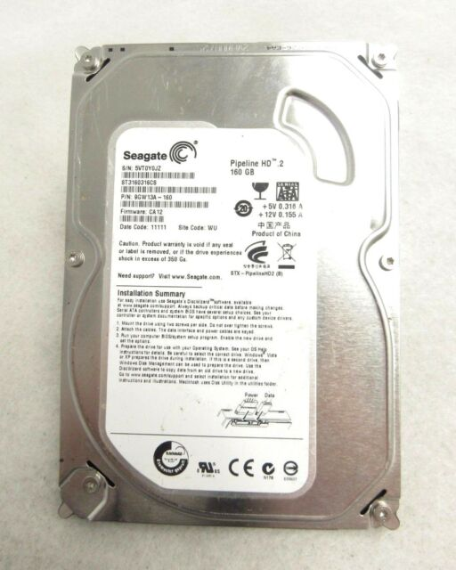 "Seagate ST3160316CS Pipeline HD.2 3.5"" 160GB 5900RPM SATA Hard Drive 3P"