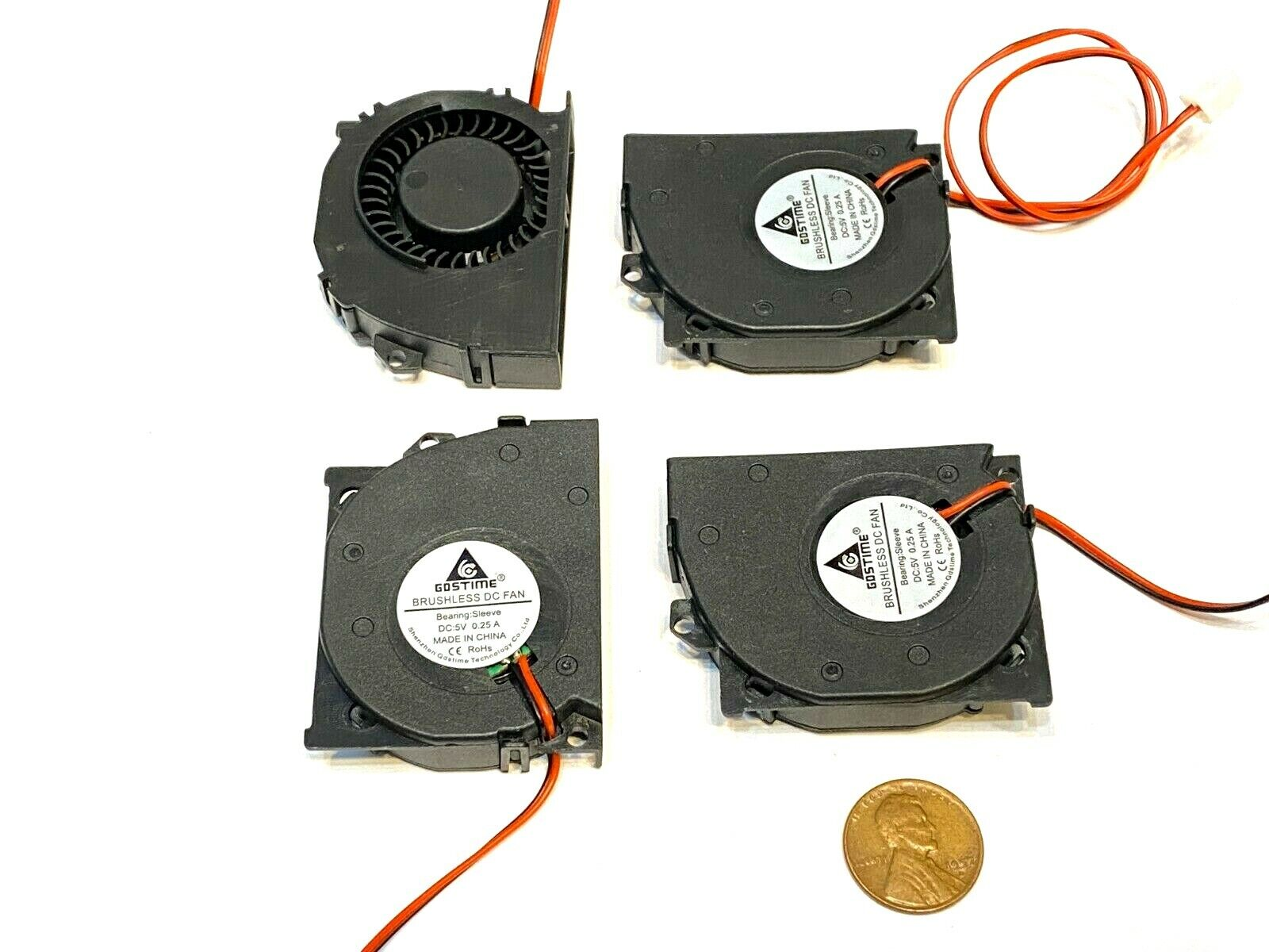 4 Pieces 5V Blower Computer 50x40x10mm 5cm 4cm 10mm Cooling Exhaust Fan 2pin C46