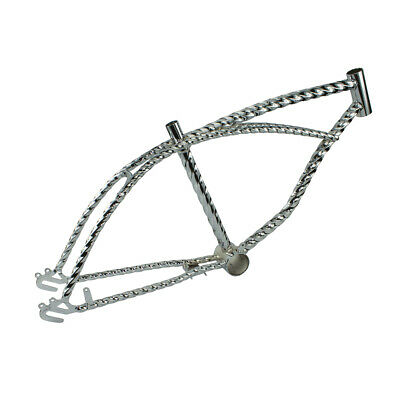 "20/"" beach cruiser Lowrider vélo vélo Twisted Cadre Chrome"
