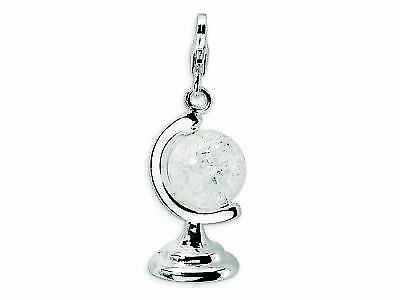 Crystal Cracked Globe Charm .925 Sterling Silver Click On Amore La Vita