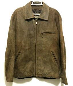 Vtg-XL-Joint-Venture-Suede-Leather-Jacket-Brown-Stunt-Wardrobe-Leverage-TV-Show