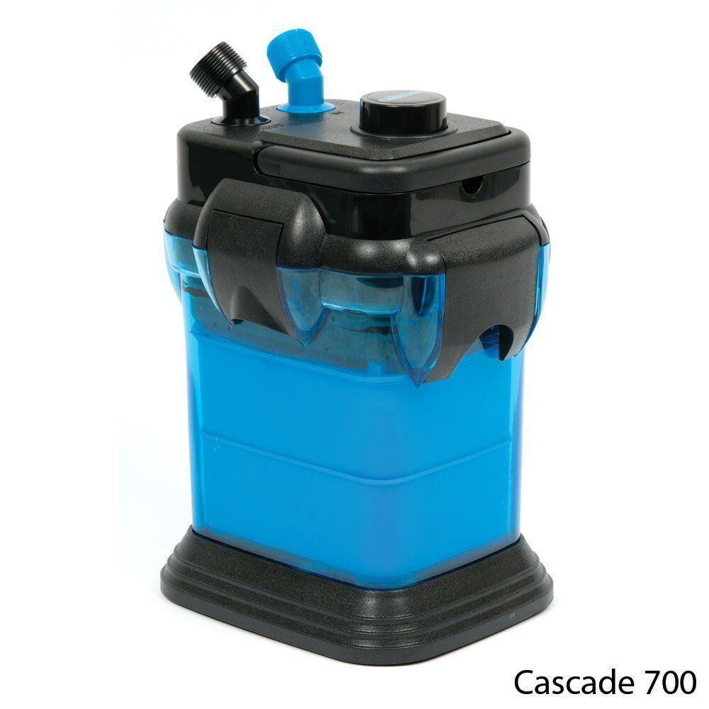Penn Plax Cascade 700 GPH Canister Filter Aquarium Fresh Salt Water Up To 65 Gal