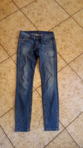 Slim Donna Baker 26 Med Jeans Distress Blue Sz Skinny Paris Denim Ted n0xw77