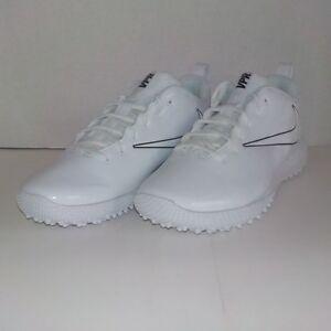b5344d6a7 Nike VAPOR VARSITY LOW TURF LAX LaCrosse Cleat WHITE BLACK 923492 ...