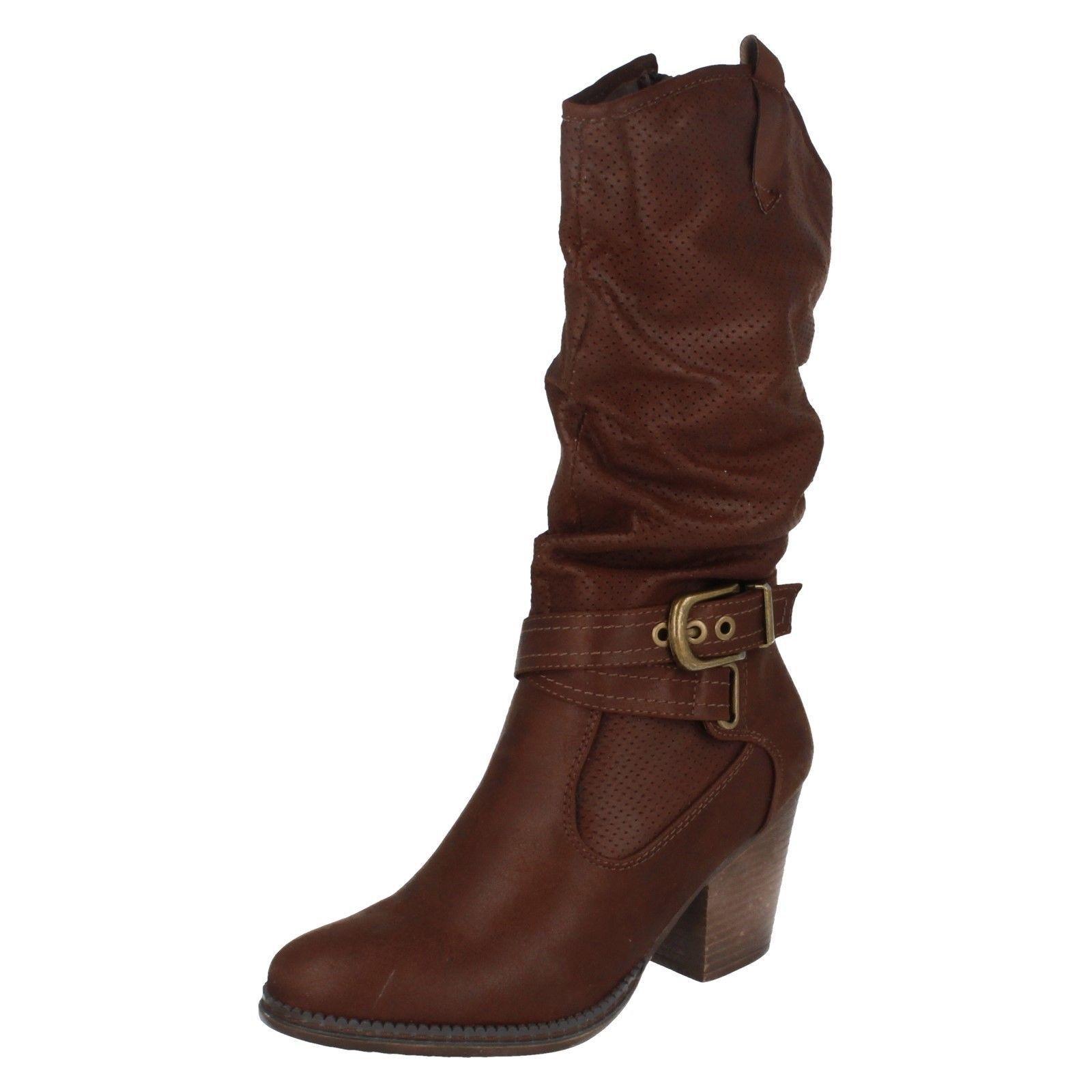 Donna NERO NERO NERO DARK caffè sulla Terra Al Polpaccio Con Tacco Stivali Da Cowboy F5R0951 | Benvenuto  | Uomo/Donne Scarpa  1f5c1d
