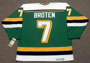 NEAL BROTEN Minnesota North Stars 1989 CCM Vintage Away NHL Hockey ... 2142f942754