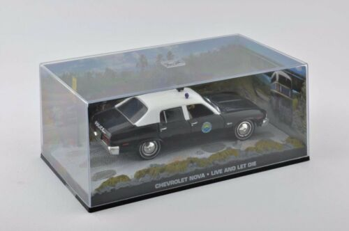 Metal coche modelo 1:43 Chevrolet Nova Police James Bond 007 Live and Let la