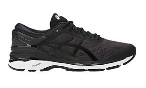 Asics-Men-039-s-GEL-KAYANO-24-Running-Shoes-BLACK-PHANTOM-WHITE