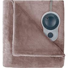 Sunbeam Velvet Plush Heated Blanket, King Size (Mushroom) BSV9GKS-R772-12A44