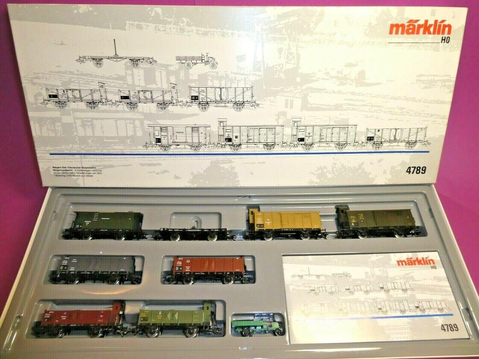 marklin h0 4789  Stato tedesco autoro ferroviario Associazione  autorello-Set