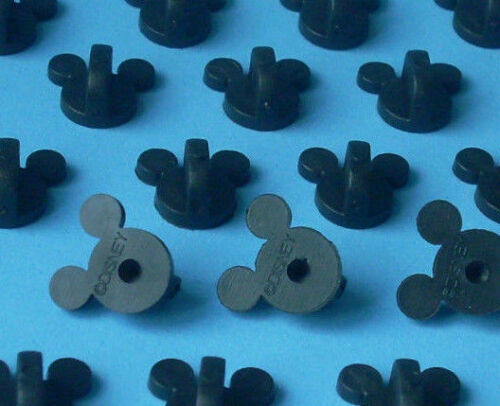 25 Quality Firm Gripping Disney Pin Trading Mickey Head Rubber Pin Backs