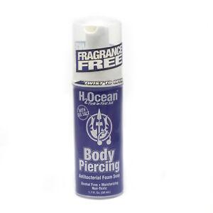 H2ocean Body Piercing Aftercare Antibacterial Foam Soap 17 Fl Oz