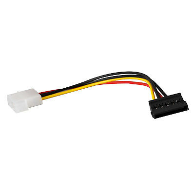 Cables Sata Hard Drive Power Cord Desktop Large 4pin Turn 15pin Computer D Type 4 pin to SATA Mother 0.2 m Cable Length: 2PCS, Color: Other