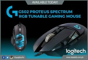 Logitech G502 Proteus Spectrum Tunable Gaming Mouse with Weight /& Balance Tuning