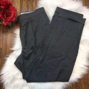 Hart-Schaffner-Marx-Men-039-s-Gray-100-Wool-Dress-Career-Pants-Size-38R
