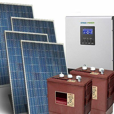 Solar kit Pro 5Kw 48V for house Photovoltaic System Off-Grid Batteries Trojan