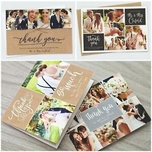 Personalised-Wedding-Thank-You-Cards-Photo-Pack-FREE-Envelopes