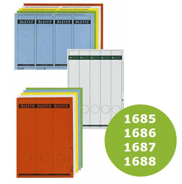 Leitz 1685 PC-beschriftbare Rückenschilder grün Papier kurz//br.,100 St.