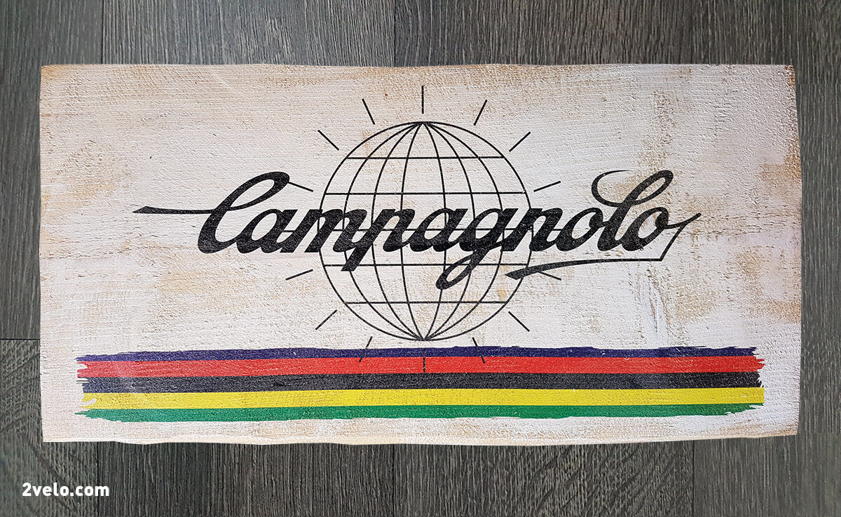 Cycling  wood print, Campagnolo, vintage style poster, retro bicycle ads  top brands sell cheap
