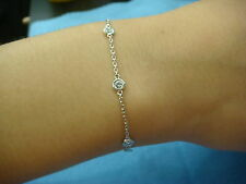 """0.40 CT """"DIAMONDS BY THE YARD"""" 7 COMFORT FIT STATIONS LADIES BRACELET, 7 INCH"""