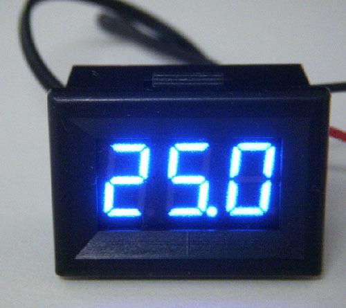LED -55℃ -125℃ Digital Thermometer DS18B20 Temperature Sensor 12v car Aquarium B